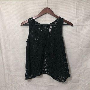 Lace top with open back- lace swim cover up